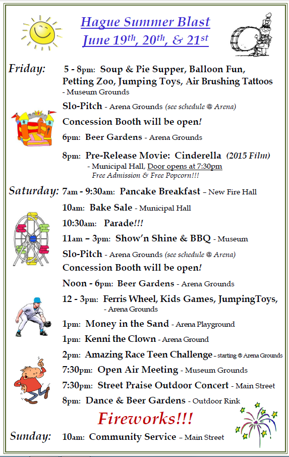 2015 Time of Events Summer Blast