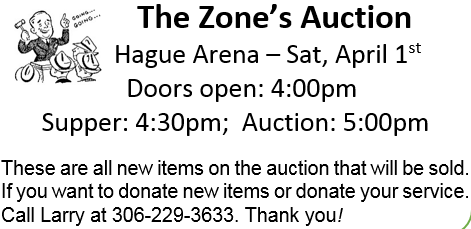 The Zone Auction @ Hague | Saskatchewan | Canada