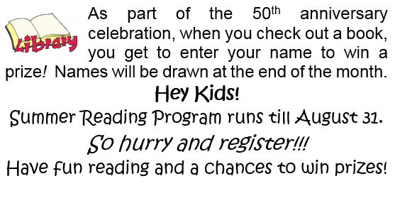 Wheatland Regional Library is celebrating it 50th Anniversary!!!
