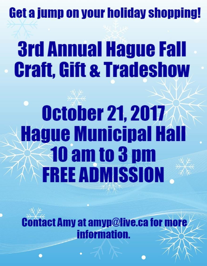 Craft Sale @ Hague Municipal Hall | Hague | Saskatchewan | Canada