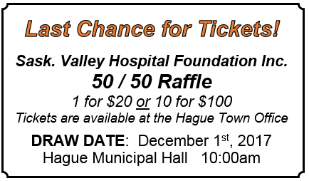 Sask Valley Hospital Foundation Inc. @ Hague Town Office | Hague | Saskatchewan | Canada