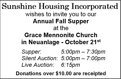 Sunshine Housing Event - Oct. 21st