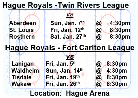 Hague Royals - Twin Rivers Hockey League Game @ Hague Arena | Hague | Saskatchewan | Canada