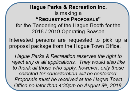 Request for Proposals @ Hague Arena