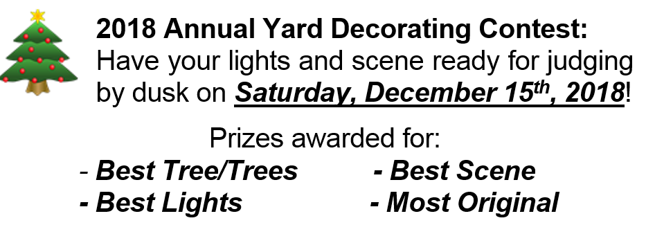 Yard Decorating Contest 2018