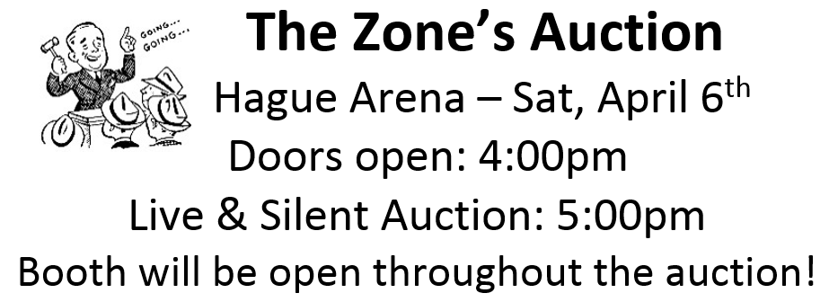 Zone Auction @ Hague Arena
