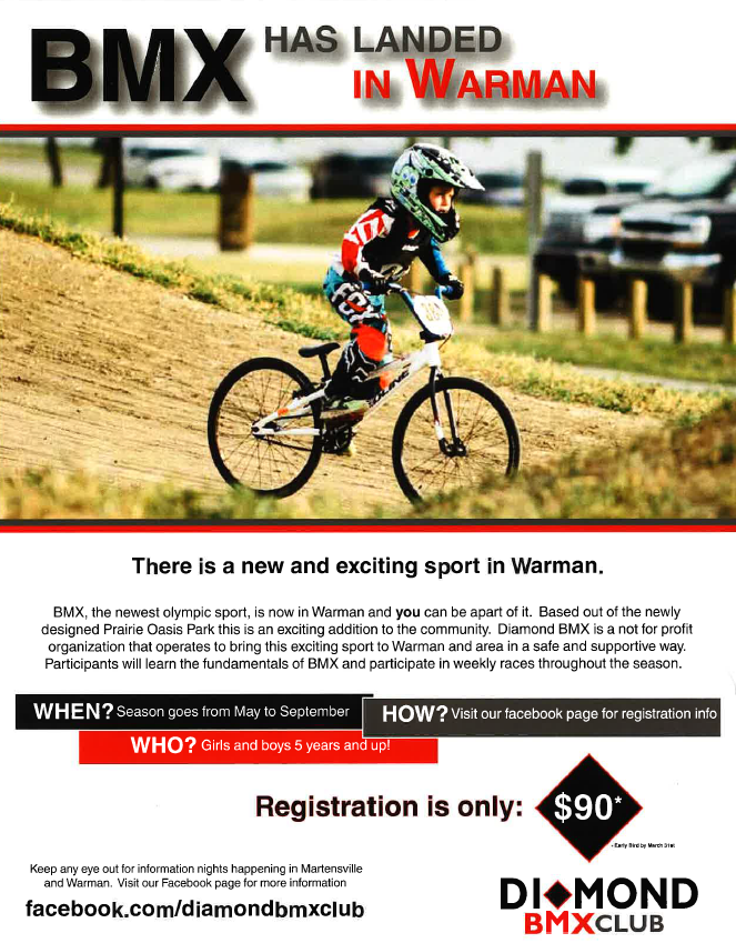 BMX has landed in Warman!