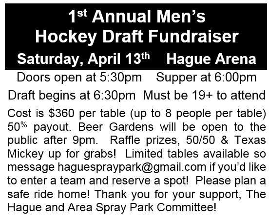 Hockey Draft Fundraiser @ Hague Arena