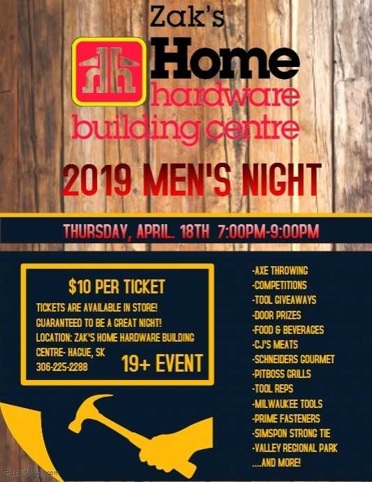 Men's Night at Zak's! @ Zak's Building Supplies