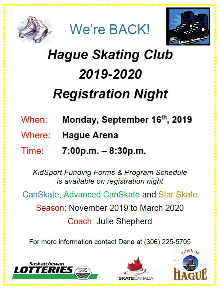 Canskate Registration @ Hague Arena
